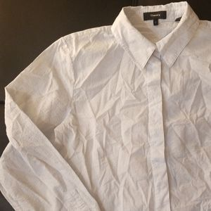 NWOT Theory Pinstriped Button Down Shirt